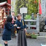 秋葉原にてボランティア活動 高校生との交流